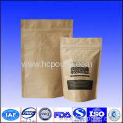 stand up kraft paper bag coffee pouch