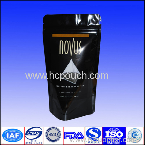 stand up coffee package with zipper