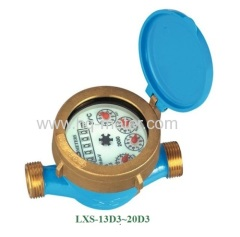 Single jet wet type Vane Wheel water meter