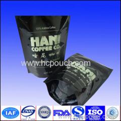 plastic coffee bean package