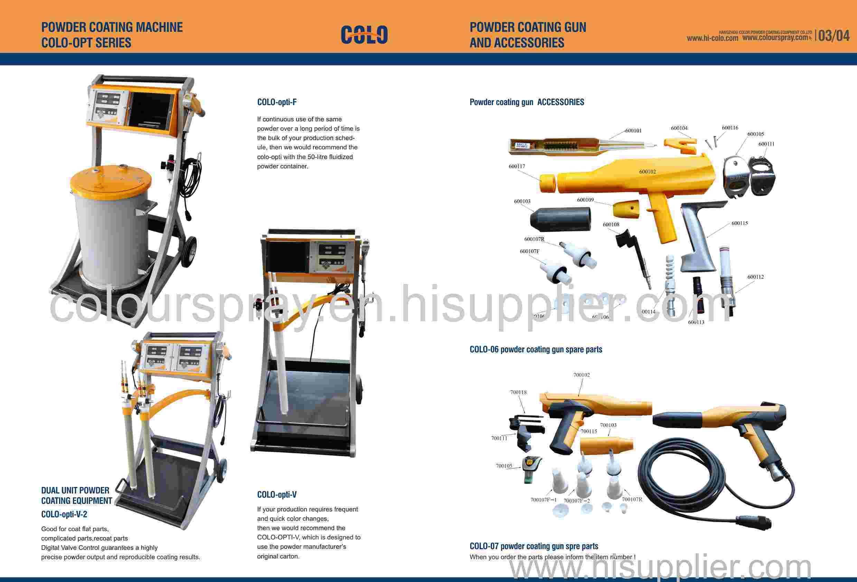 colo digital vale technology powder coating machine