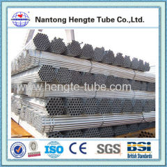 BS1387 1985 hot dip galvanized water steel pipe