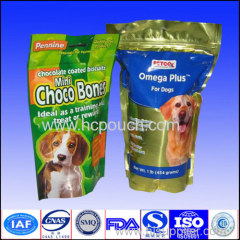 Doypack bag aluminum foil pouch for pet food