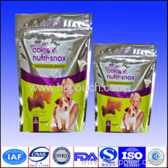 aluminum foil stand up pouch for dog food with zipper
