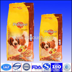 aluminum foil side gussted pouch for dog food