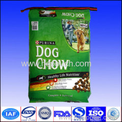 Customized printed top sealed aluminium foil dog food pouch