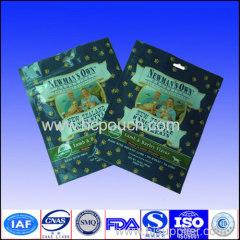 aluminium foil dog food pouch with plane Hole