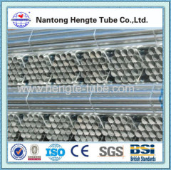 BS1387 1985 Cold rolled Galvanized steel tube