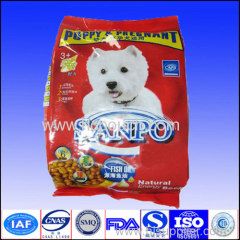 side gussetd aluminium foil packaging pouch for cat food