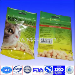 Doypack bag aluminium foil packaging pouch for cat food