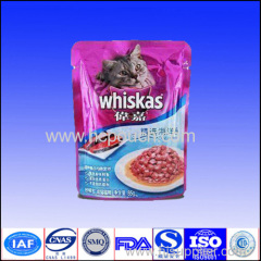 aluminium foil stand up packaging pouch for cat food