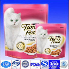 zip lock aluminium foil stand up packaging pouch for cat food