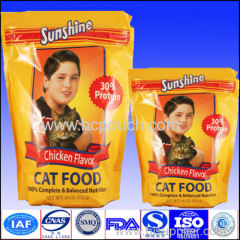 custom printing aluminium foil stand up packaging pouch for cat food