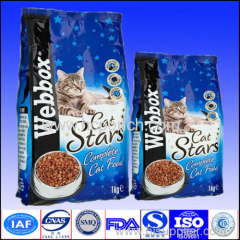 colored printing aluminium foil packaging pouch for cat food