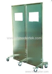mobile lead shields with lead glass windows
