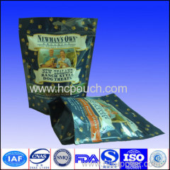Stand up aluminum foil doypack bag with tear notch and zipper