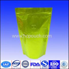 Doypack valve aluminum foil coffee bag with zipper