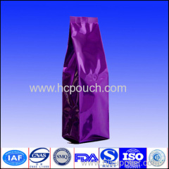 Flat bottom valve aluminum foil coffee bag