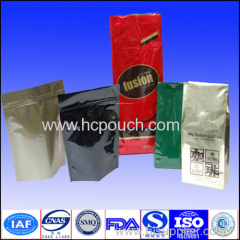 valve aluminum foil coffee bag with zipper
