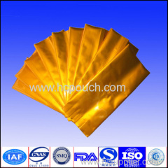 Aluminum foil side gussted gold pouch