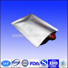 Aluminum foil 3 sides seal silve pouch