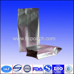 Aluminum foil side gussted silver bag