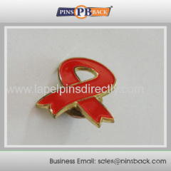 Soft enamel Awareness ribbon pins badge