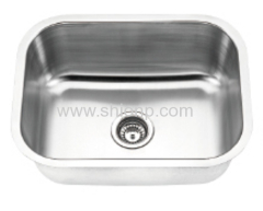 Stainless steel undermounted sink bowl