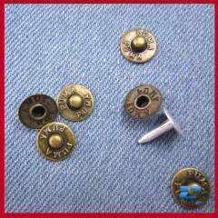 custom metal clothing studs