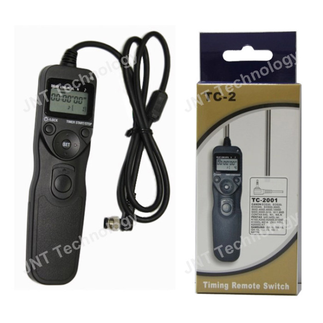 Hotselling LCD timer remote control for Canon 40D/50D/70D 5D Mark III