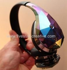 Monster Diamond Tears Edge On-Ear Headphones With ControlTalk for iPhone iPod iPad Blue