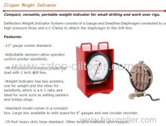 wellhead weight indicator deflection type