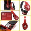Red beats studio headphone by dr dre with new accessories and packing