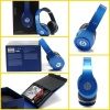 Dark blue beats studio headphone by dr dre for iphone with new packing