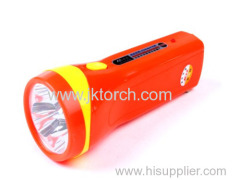 ABS material Rechargeable flashlight