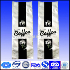 side gusset plastic coffee packaging pouch