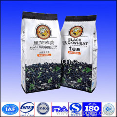 plastic stand up tea packaging pouch