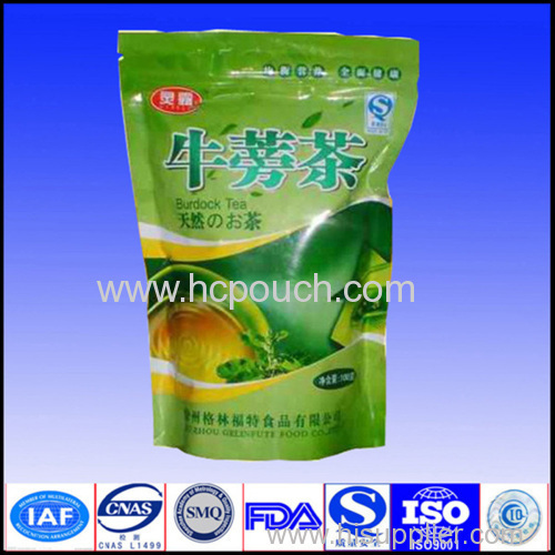 stand up plastic pouch tea bag