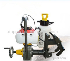 Inner-combustion rail drilling machine