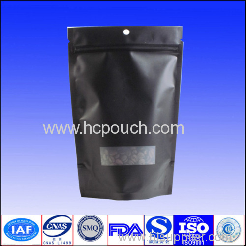 clear foil stand up pouch