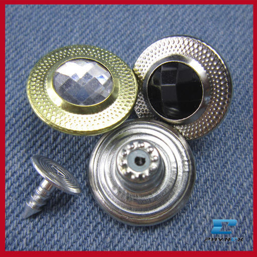 fashion glass jean button