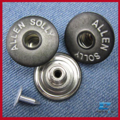 hollow jean button for jacket