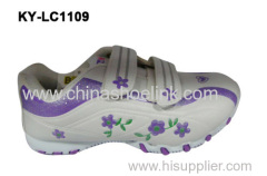 White school shoe for girl from China factory directly