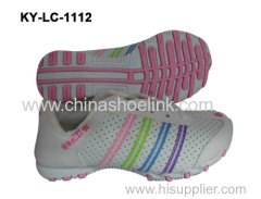 PU synthetic upper shoe for girl from China factory directly