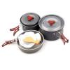 8pcs camping cookware set