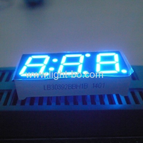 Custom Triple digit 0.39  Common Anode Ultra Blue 7 Segment LED Display for Instrument Panel