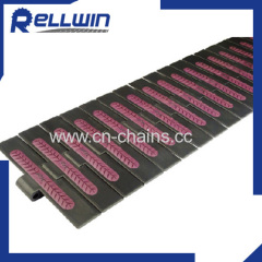 Conveyor slat chains Plastic rubber top chains750FH for transportation