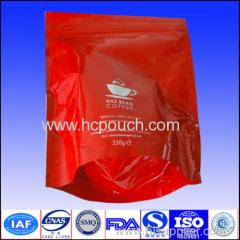 coffee package bag valve zip