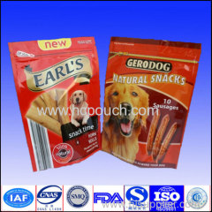 stand up plastic pet food pouches