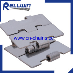 Single hinge SS chain Slat top straight running chain
